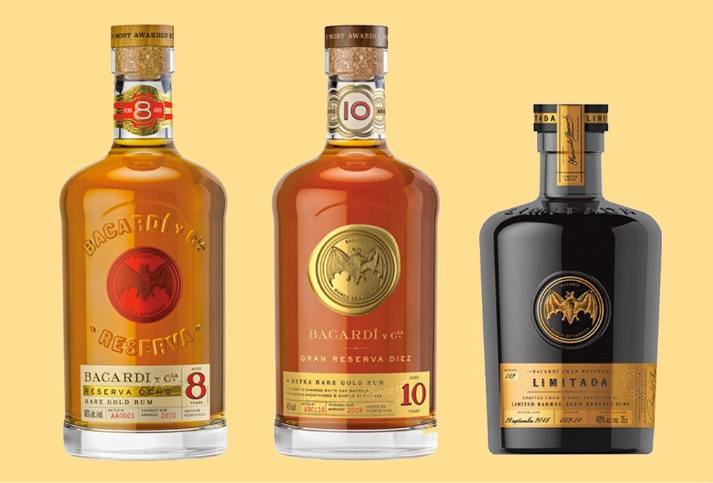 High end Bacardi rums