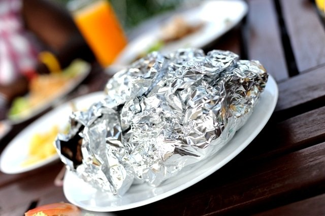 nyama choma wrapped in foil