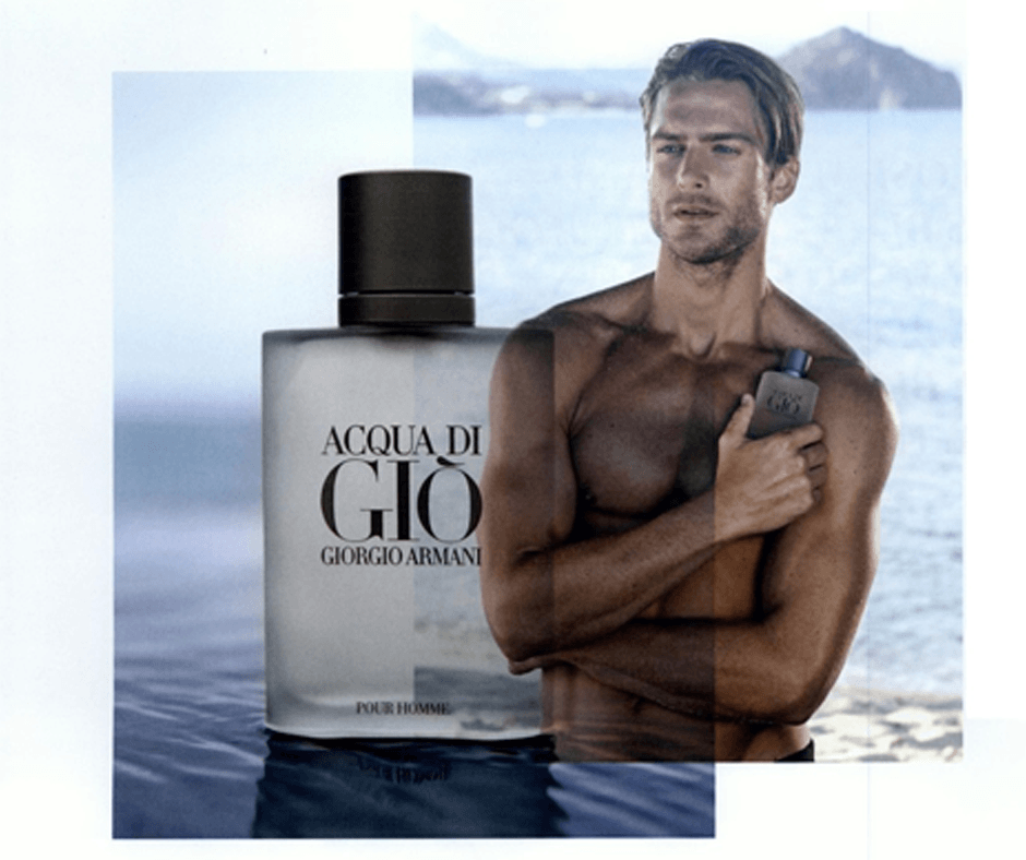 an advert for Acqua di Gio, an Armani perfume