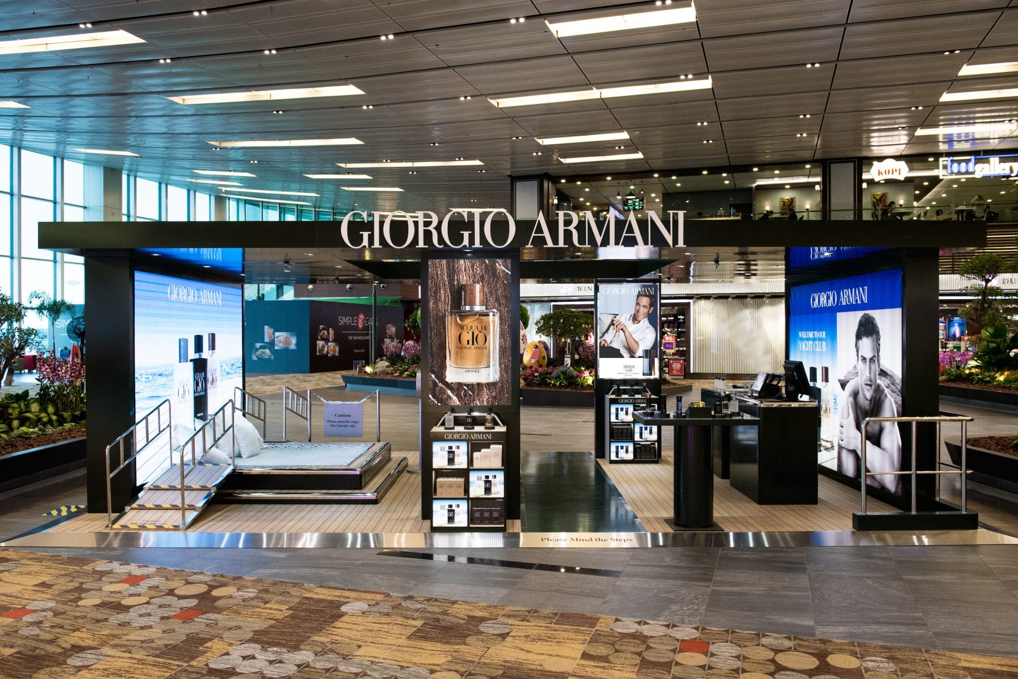 Armani perfume, including Acqua di Gio, being sold at Singapore Changi Airport