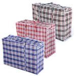 Blue Red Black Checkered Reusable Laundry Bags