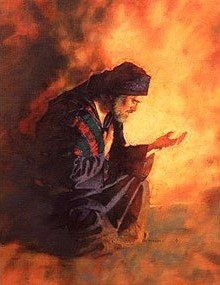Depiction of Jabez from the Bible Praying