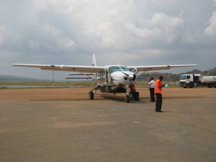 Chartered Plane to fly to African Barrick Gold Buzwagi Mine