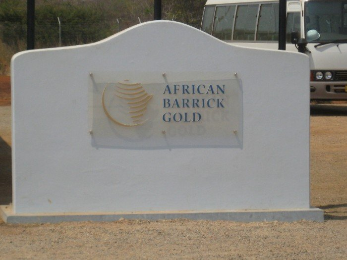 African Barrick Gold Sign