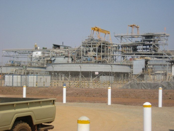 Processing Plant at African Barrick Gold Buzwagi Mine