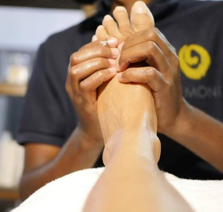 A foot massage at Lemon Spa - massage dar es salaam tanzania