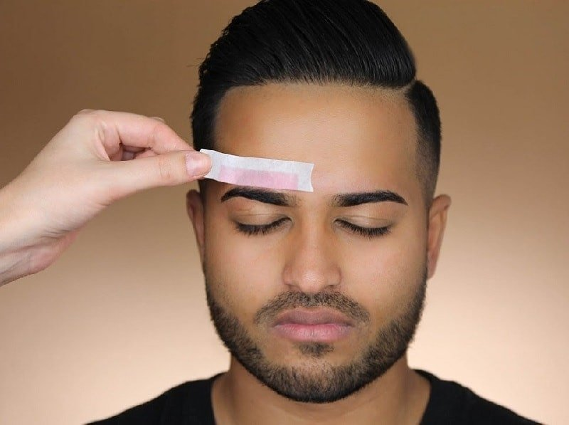 Eyebrow waxing for men