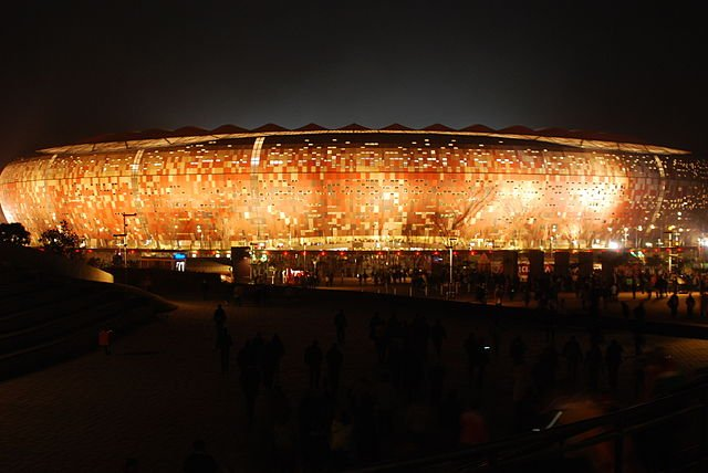 Soccer City by night