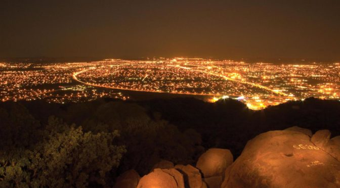 Gaborone, the capital of Botswana, by Night