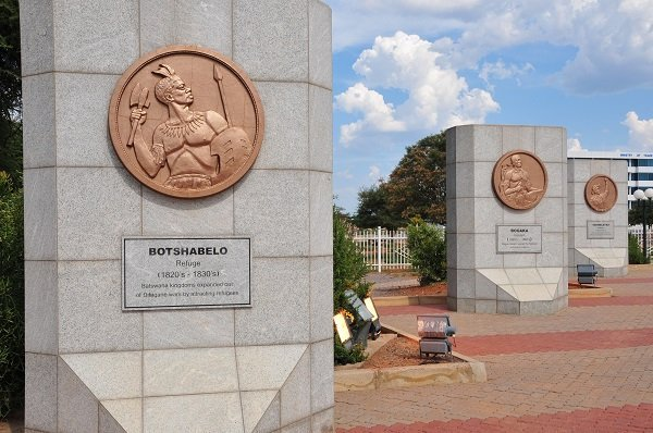 National virtue panels at the Three Dikgosi Monument in Gaborone