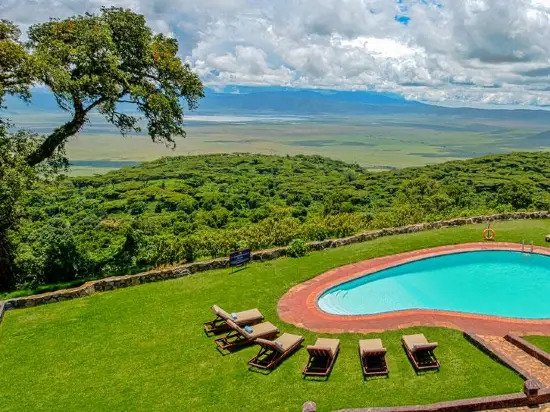 Ngorongoro Sopa Lodge Images -- View of the Crater from the Lodge