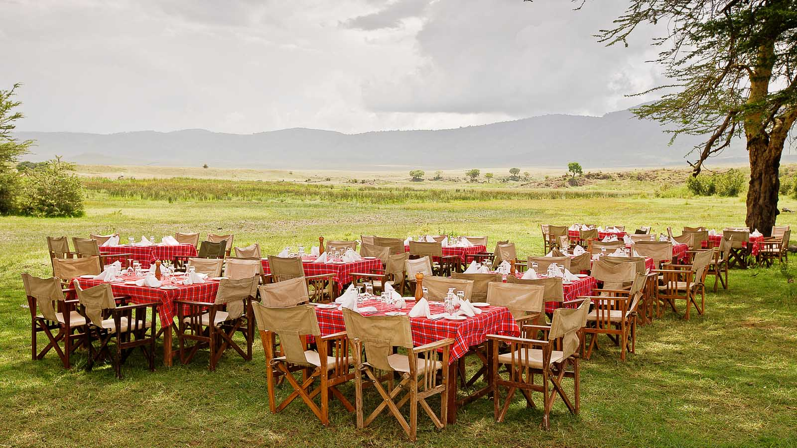 Ngorongoro Sopa Lodge images -- lunch in the Crater