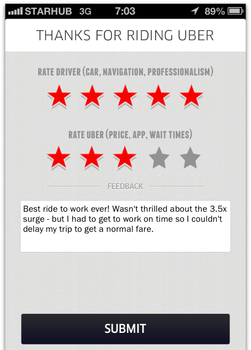 uber rating how to see