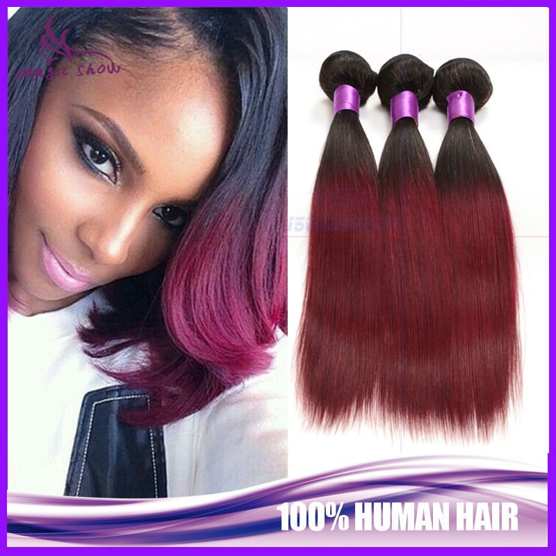 Maroon Hairpiece