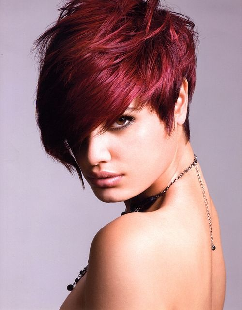 Short Maroon Hair
