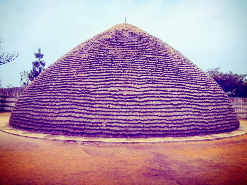 A Traditional King's House from Behind, The King's Palace Museum in Nyanza, Rwanda