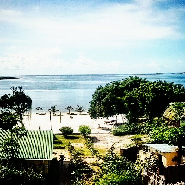 The Indian Ocean from Kilwa, Tanzania