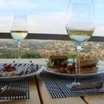 Food and the view from Holy Crepe Kololo