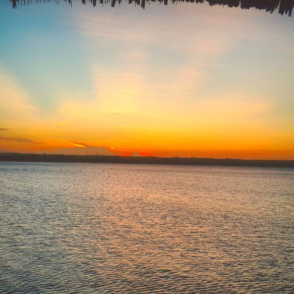 Sunset from the Jetty at the DoubleTree by Hilton Hotel Dar es Salaam - Oyster Bay, Tanzania