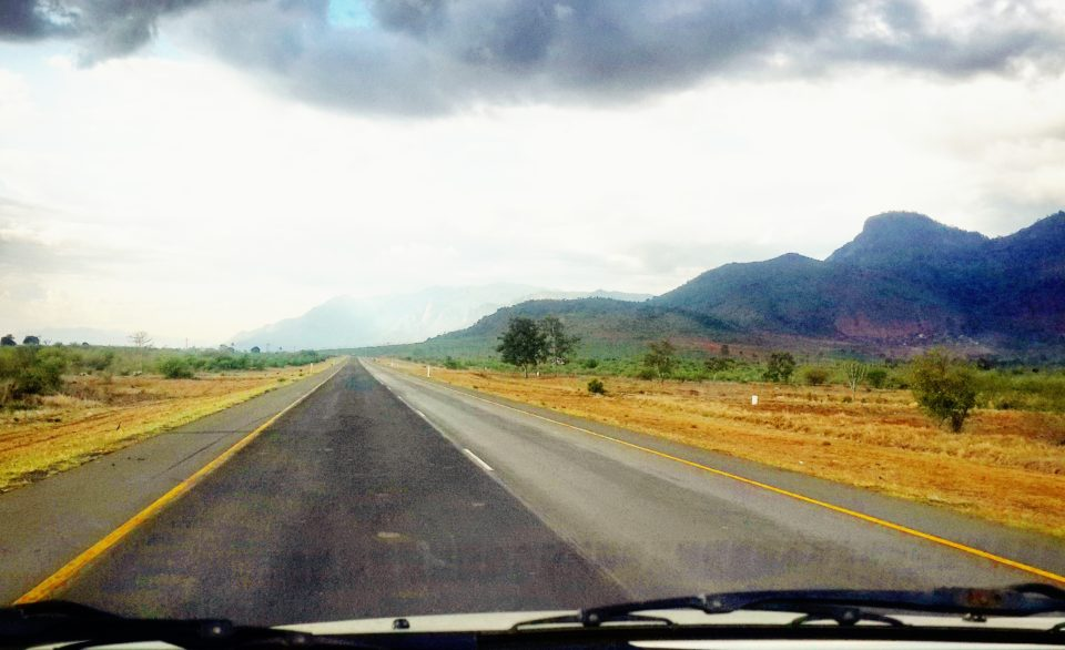 Driving through the Usambara Mountains