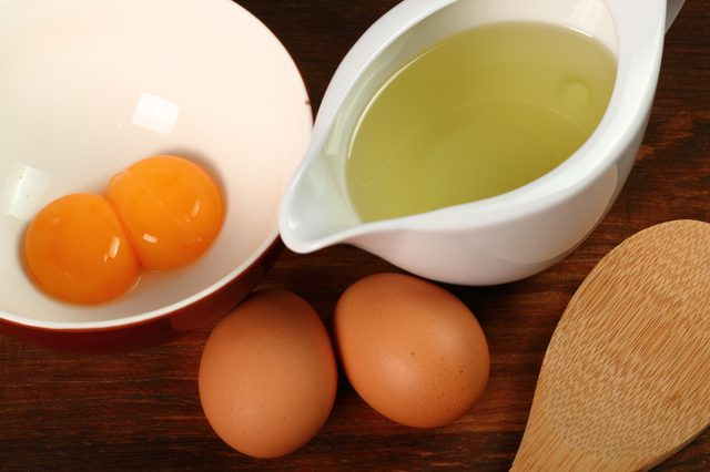 Eggs and olive oil for DIY Hair Mask