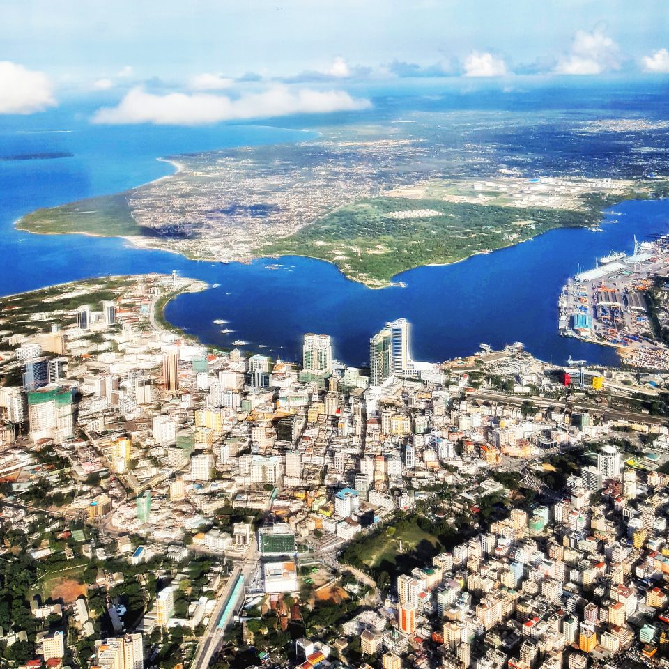 Aerial view of downtown Dar es Salaam
