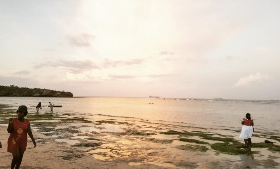 Sunset at Coco Beach, Dar es Salaam.