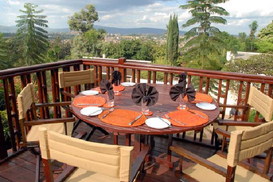 Kigali Hotels: The outdoor deck at Heaven Restaurant