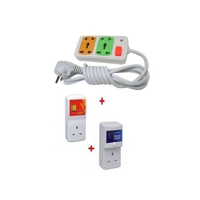 Shopping online: New TV Guard + FREE Fridge Guard with FREE 4-Way Extension Cable - White
