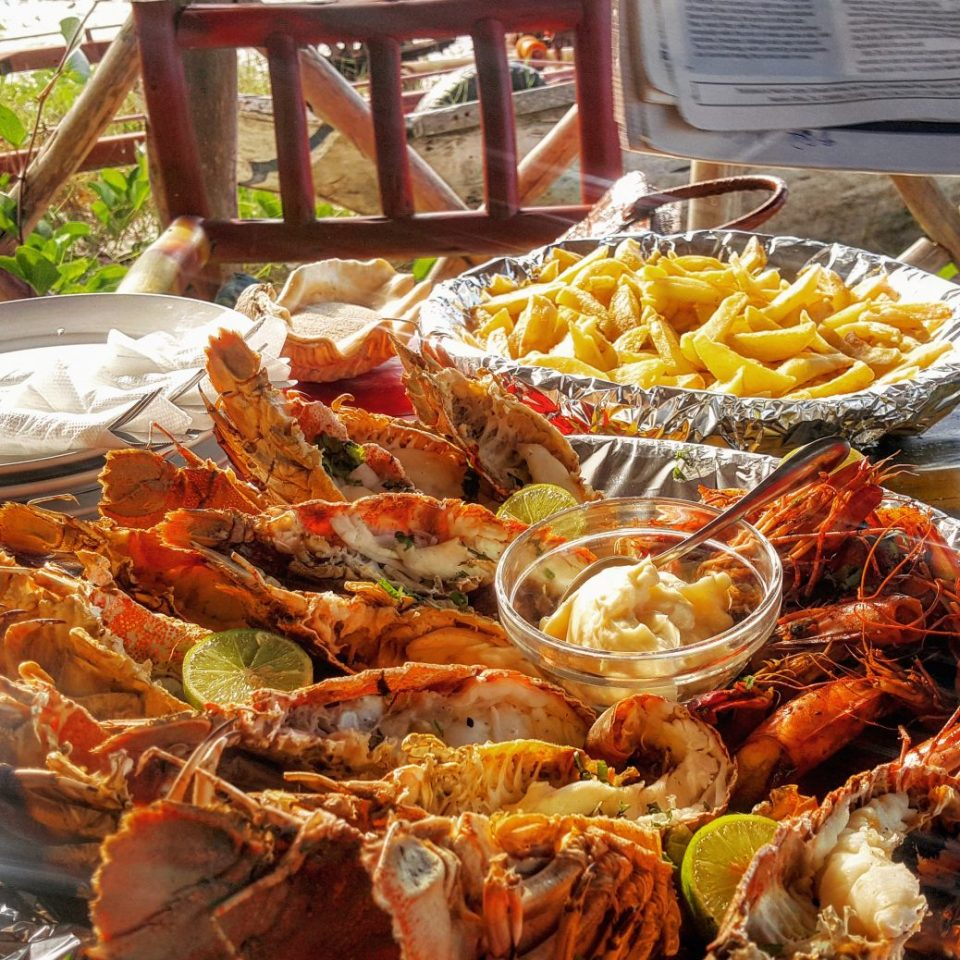 Lobster and Prawns, Mahaba Beach