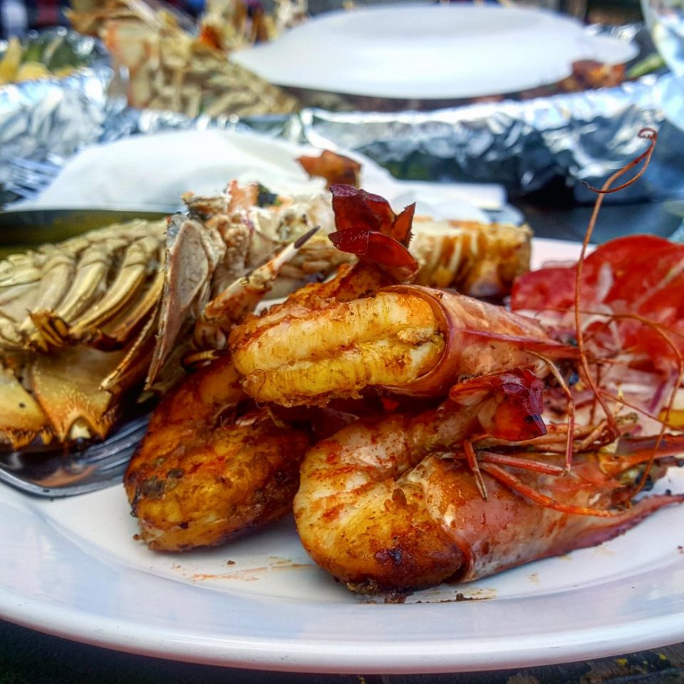 Prawns at Mahaba Beach