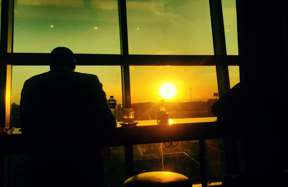 Sunset at Jomo Kenyatta International Airport, Nairobi, Kenya