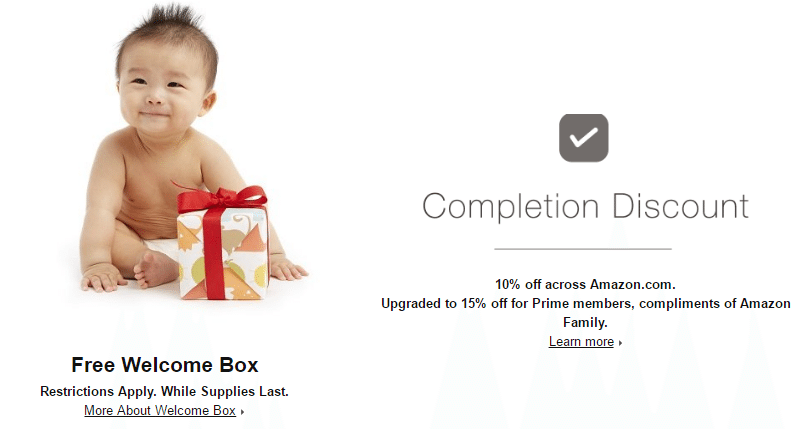 Amazon Completion Discount Banner