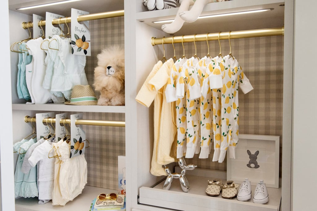 Baby Items in a closet