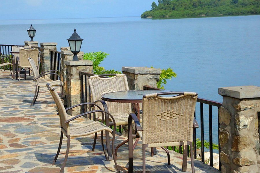 The view of Lake Kivu from Moriah Hill Resort, Kibuye/Karongi
