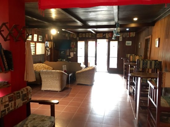 Common area at the Lawns Hotel in Lushoto