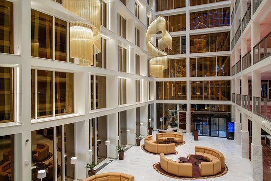 The lobby of the Radisson Blu Hotel & Kigali Convention Centre