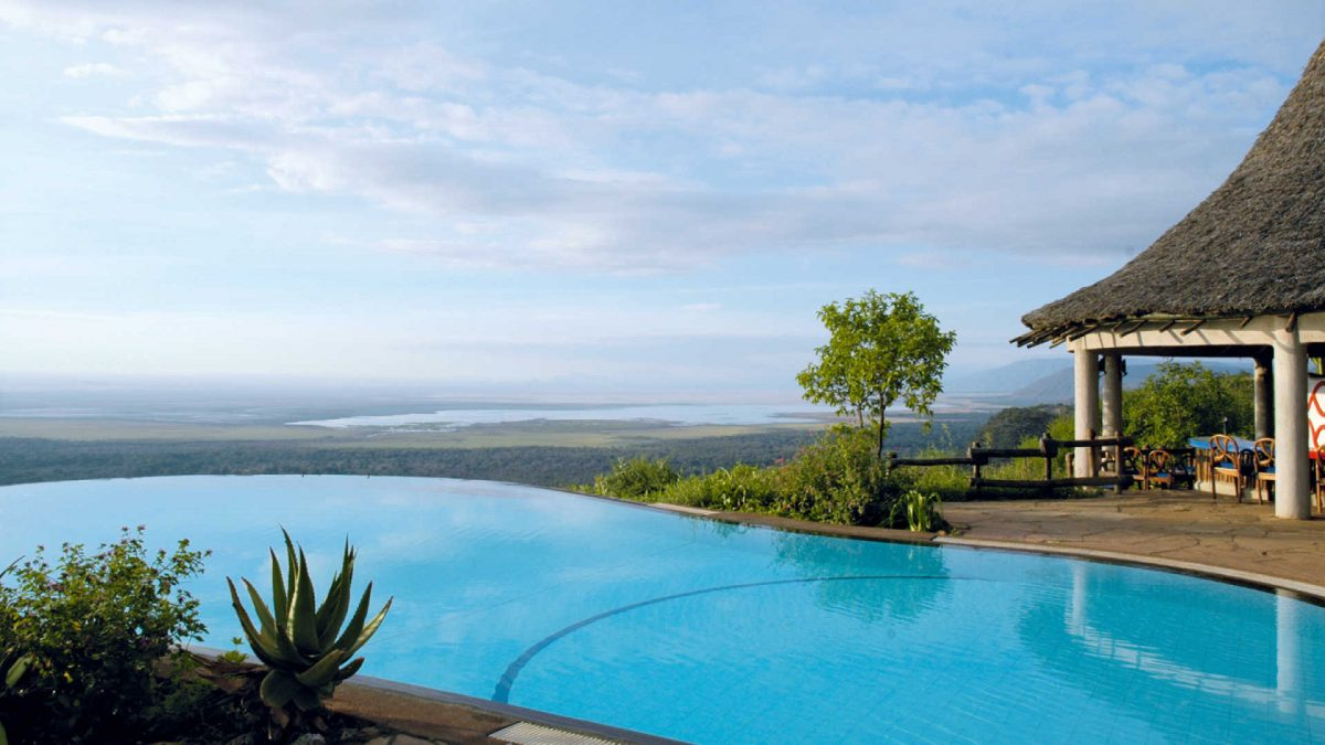 Swimming pool at the Lake Manyara Serena Safari Lodge