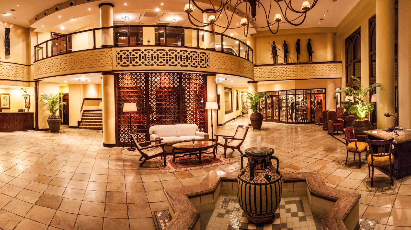 Hotels in Dar es Salaam: The lobby of the Southern Sun Dar es Salaam