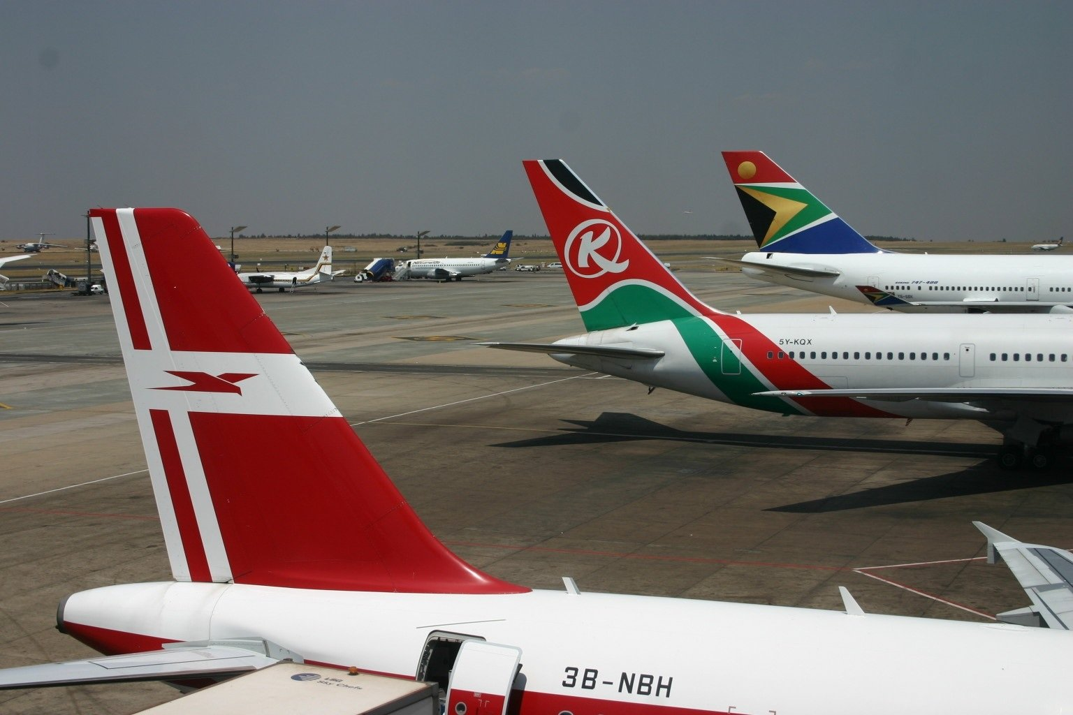 Several African airlines at OR Tambo
