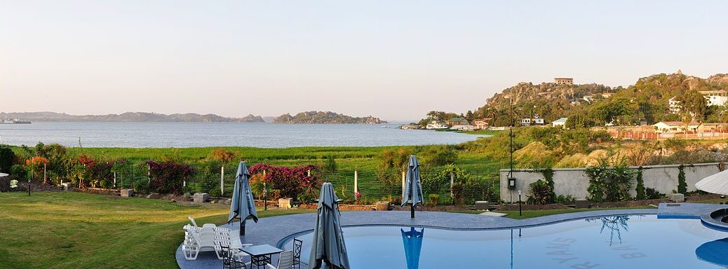 The view of Lake Victoria from Ryans Bay Hotel Mwanza